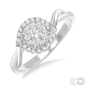 Ashi Diamonds 14k White Gold Lovebright Collection Diamond Ring - 15955DJFVWG-LE