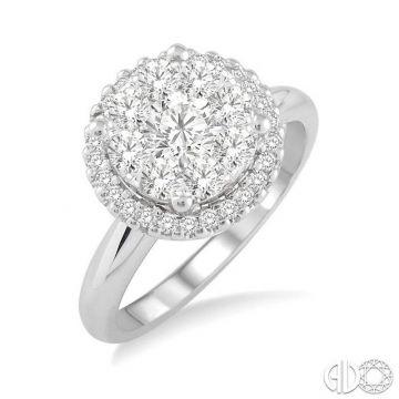 Ashi Diamonds 14k White Gold Lovebright Collection Diamond Ring - 19313DJFVWG-LE