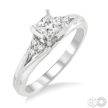 Ashi Diamonds 14k White Gold Straight Diamond Engagement Ring - 14843DJFHWG-LE