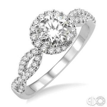 Ashi Diamonds 14k White Gold Halo Diamond Engagement Ring - 24523DJFHWG-LE