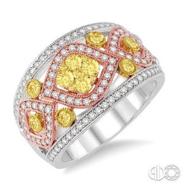 Ashi Diamonds 14k Tri-Tone Gold Diamond Ring - 34000DJFV3T-1.10