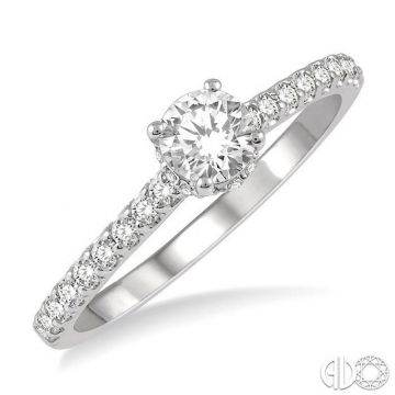 Ashi Diamonds 14k White Gold Straight Diamond Engagement Ring - 259J3DJFHWG-LE