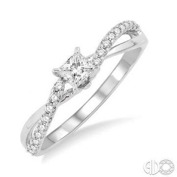 Ashi Diamonds 14k White Gold Twist Diamond Engagement Ring - 19133DJFHWG-LE
