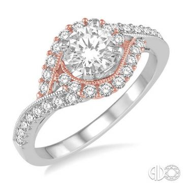 Ashi Diamonds 14k Two-Tone Gold Bypass Diamond Engagement Ring - 241D2DJFHWP-LE