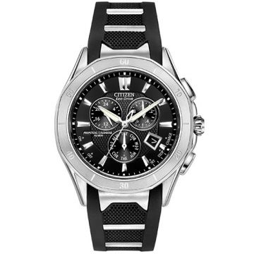 Citizen The Signature Black Stainless Steel Diamond Chronograph Watch