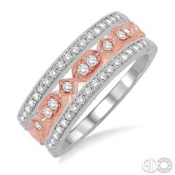 Ashi Diamonds 14k Two-Tone Gold Diamond Stackable Ring - 37843DJFVWP-BS