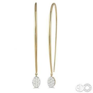 Ashi Diamonds 14k Two-Tone Gold Lovebright Collection Drop Diamond Earrings - 916A5FHERYW