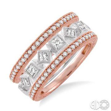 Ashi Diamonds 14k Two-Tone Gold Diamond Stackable Ring - 35261DJFCPW-BS