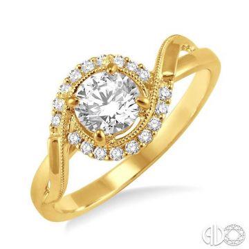 Ashi Diamonds 14k Yellow Gold Bypass Diamond Engagement Ring - 22215DJFVYG-LE