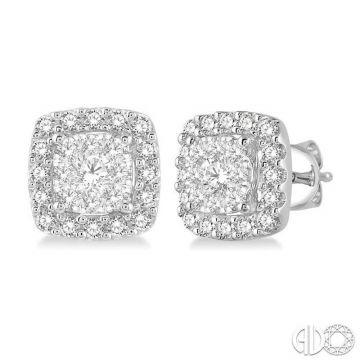 Ashi Diamonds 14k White Gold Lovebright Collection Studs Diamond Earrings - 916B3DJFVERWG