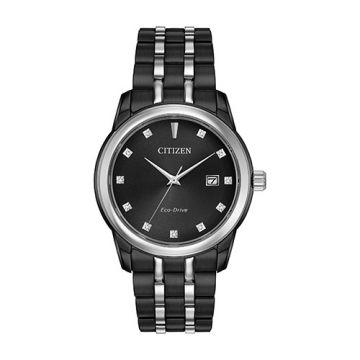 Citizen White Stainless Steel Diamond Watch
