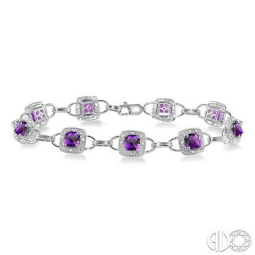 Ashi Diamonds 10k White Gold Gemstone & Diamond Bracelet - 78270DJTSAMWG