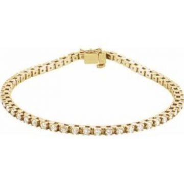 "14K Yellow 2 1/8 CTW Diamond Line 7"" Bracelet"