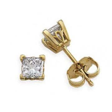 14K Yellow 1/3 CTW Diamond Earrings