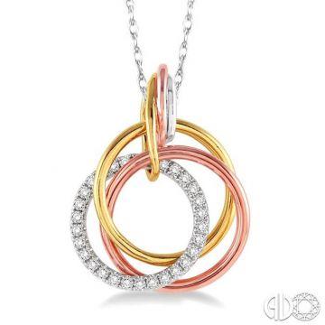 Ashi Diamonds 14k Tri-Tone Gold Diamond Pendant - 98907FNPD3T