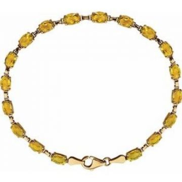 "14K Yellow Citrine 7.25"" Bracelet"