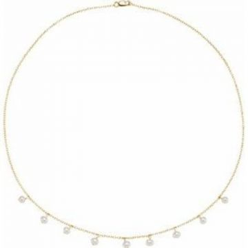 """14K Yellow Freshwater Cultured Pearl 18"""" Necklace"""