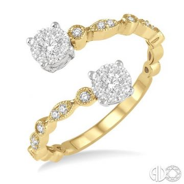 Ashi Diamonds 14k Two-Tone Gold Lovebright Collection Diamond Ring - 155D5DJFHYW