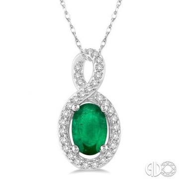Ashi Diamonds 10k White Gold Diamond & Gemstone Pendant - 58508DJTSPDEMWG