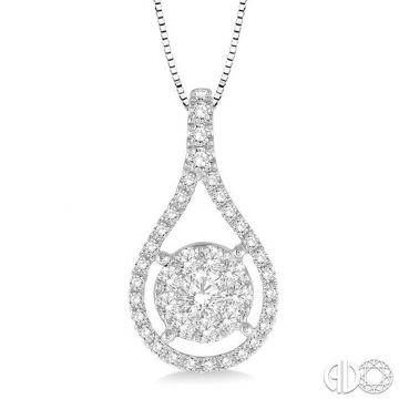 Ashi Diamonds 14k White Gold Lovebright Collection Diamond Pendant - 98733DJFHPDWG