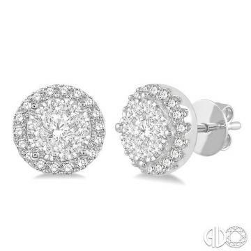 Ashi Diamonds 14k White Gold Lovebright Collection Studs Diamond Earrings - 915A3DJFVERWG