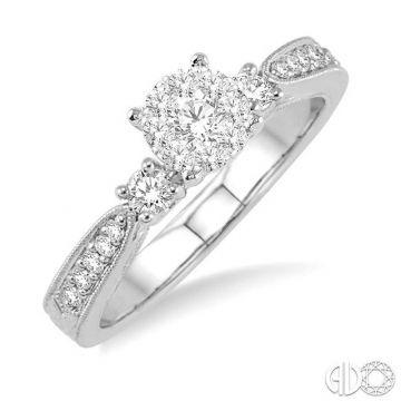 Ashi Diamonds 14k White Gold Lovebright Collection Diamond Ring - 15325DJFHWG-LE