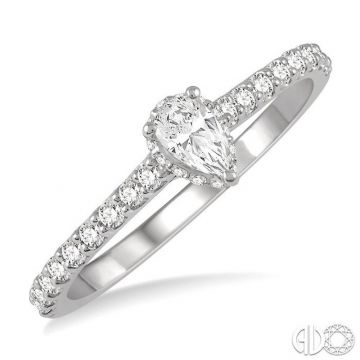 Ashi Diamonds 14k White Gold Straight Diamond Engagement Ring - 259J3DJFHWG-LE-PR