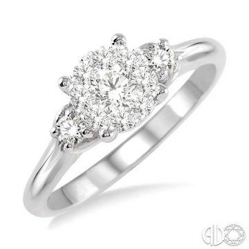 Ashi Diamonds 14k White Gold Lovebright Collection Diamond Ring - 19463DJFVWG-LE