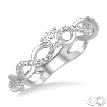Ashi Diamonds 14k White Gold Twist Diamond Engagement Ring - 268J5DJFHWG-LE