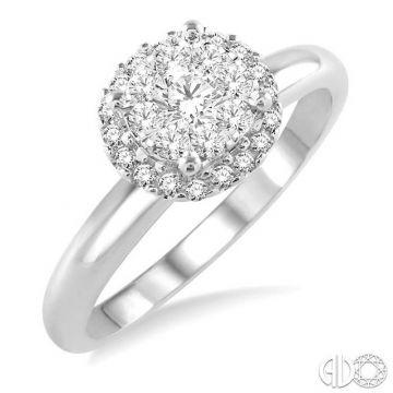 Ashi Diamonds 14k White Gold Lovebright Collection Diamond Ring - 19315DJFVWG-LE