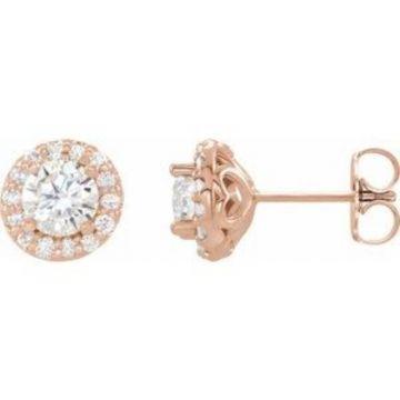14K Rose 5/8 CTW Diamond Earrings