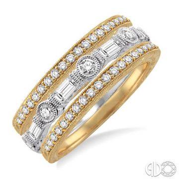 Ashi Diamonds 14k Two-Tone Gold Diamond Stackable Ring - 37642DJFVYW-BS