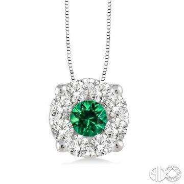 Ashi Diamonds 14k White Gold Diamond & Gemstone Pendant - 58475DJFVPDEMWG