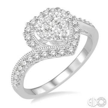 Ashi Diamonds 14k White Gold Lovebright Collection Diamond Ring - 158B3DJFVWG