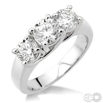 Ashi Diamonds 14k White Gold 3 Stone Diamond Engagement Ring - 30940DJFCW-2.00