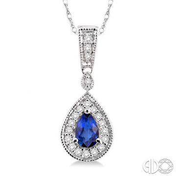 Ashi Diamonds 14k White Gold Diamond & Gemstone Pendant - 58327DJFNPDSPWG