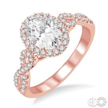 Ashi Diamonds 14k Two-Tone Gold Halo Diamond Engagement Ring - 245C3DJFVPW-LE