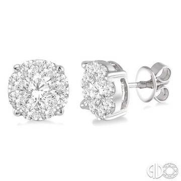 Ashi Diamonds 14k White Gold Lovebright Collection Studs Diamond Earrings - 91750DJFVERWG-2.10