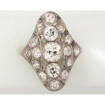 Dahlkempers Estate White Platinum Diamond Ring