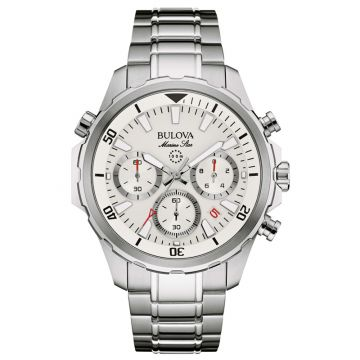 Bulova Marine Star White Stainless Steel Chronograph Watch