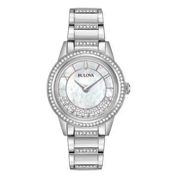 Bulova Turn Style White Stainless Steel Bracelet Watch