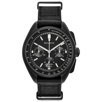 Bulova Lunar Pilot Black Stainless Steel Chronograph Quartz Watch