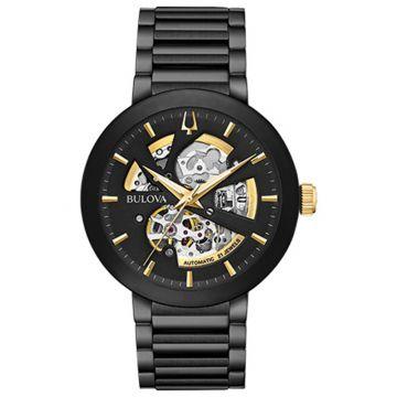 Bulova Futuro Modern Black Stainless Steel Automatic Watch