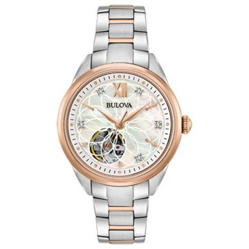 Bulova Sutton Rose Stainless Steel Diamond Automatic Watch
