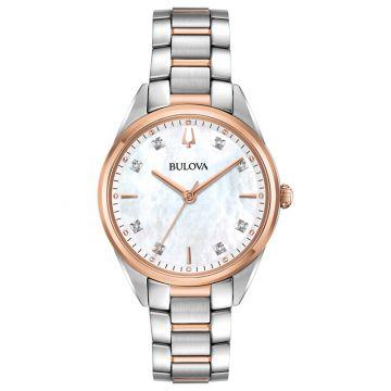 Bulova Sutton Rose Stainless Steel Diamond Quartz Watch