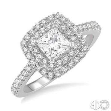 Ashi Diamonds 14k White Gold Double Halo Diamond Engagement Ring - 243H3DJFHWG-LE
