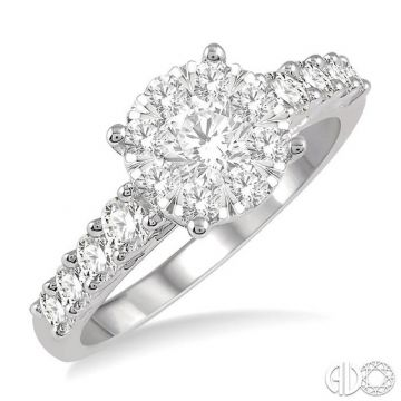 Ashi Diamonds 14k White Gold Lovebright Collection Diamond Ring - 140D0DJFVWG-1.10