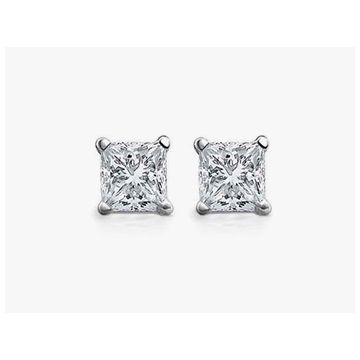 Diamond 1 ctw Princess Cut Studs