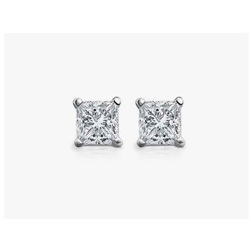 Diamond 3/4 ctw Princess Cut Studs