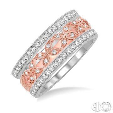 Ashi Diamonds 14k Two-Tone Gold Diamond Stackable Ring - 37833DJFVWP-BS